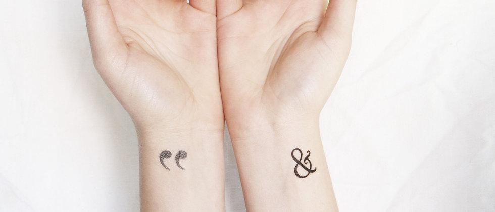 Tiny Temporary Tattoo Modern 5 pack