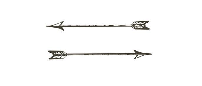 vintage arrows- temporary tattoos - choose size