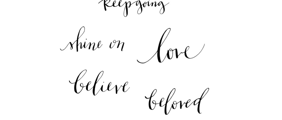 Inspiring words calligraphy temporary tattoos