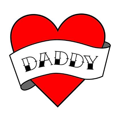 Daddy Heart Temporary Tattoo