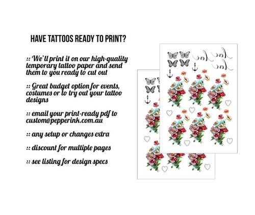 Best Temporary Tattoos in Australia | Pepper Ink Temporary Tattoos