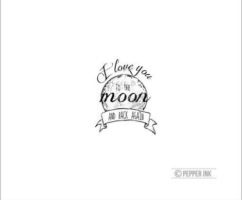 i love you to the moon and back temporary tattoo