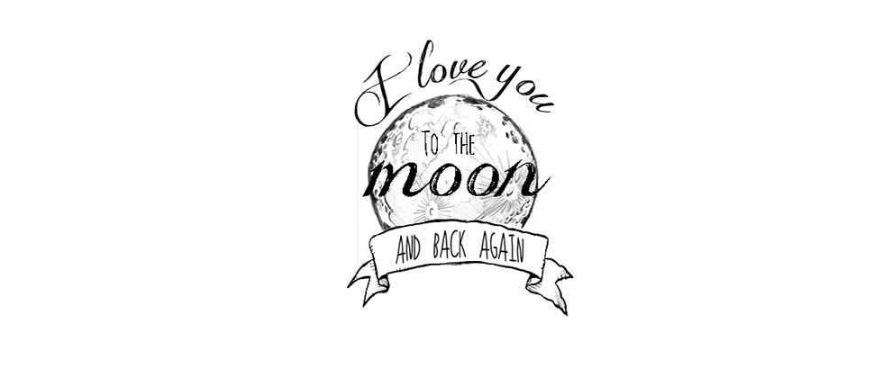 i love you to the moon and back - temporary tattoo