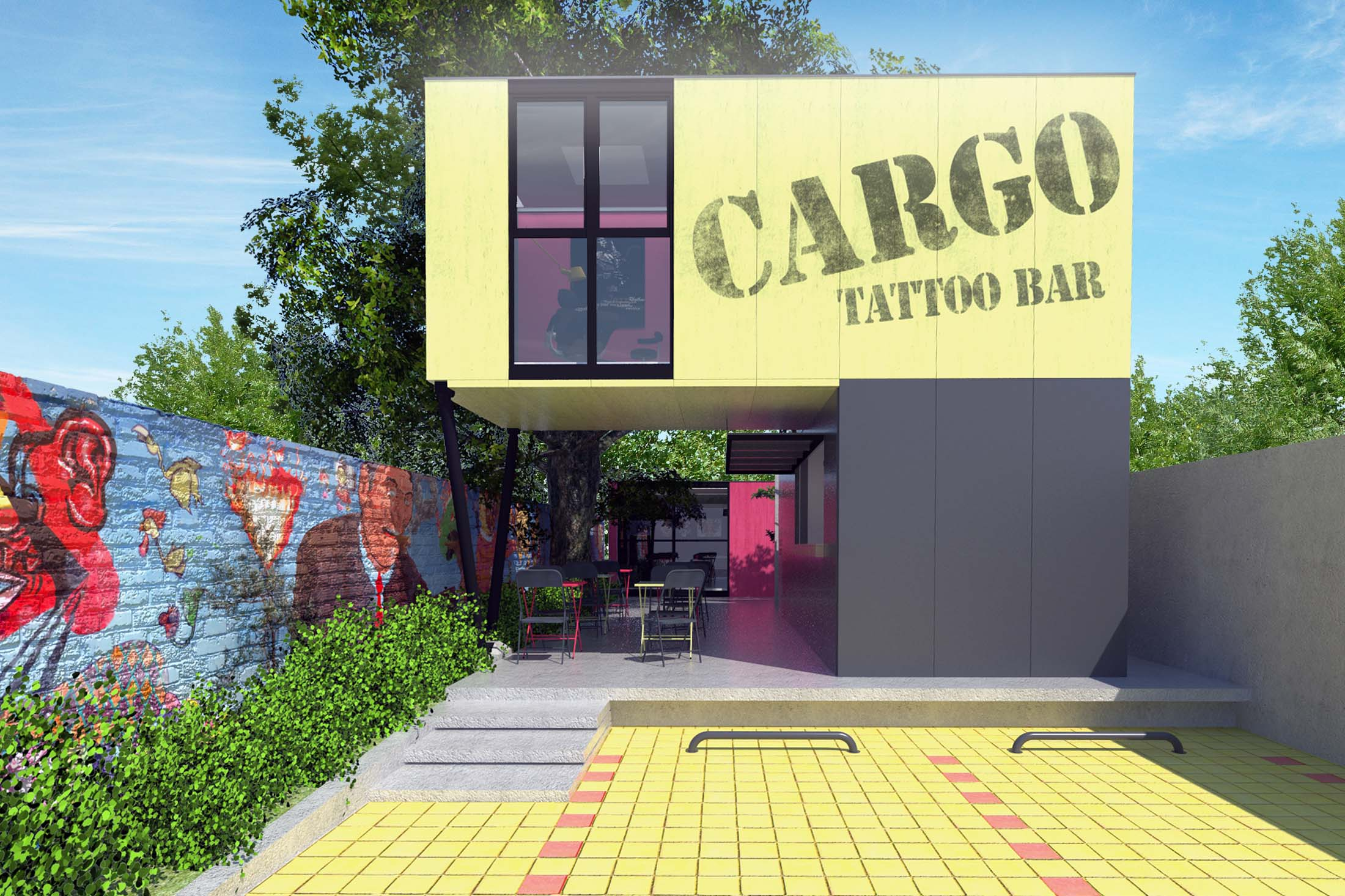 CARGO TATOO BAR/ArtBoxarq