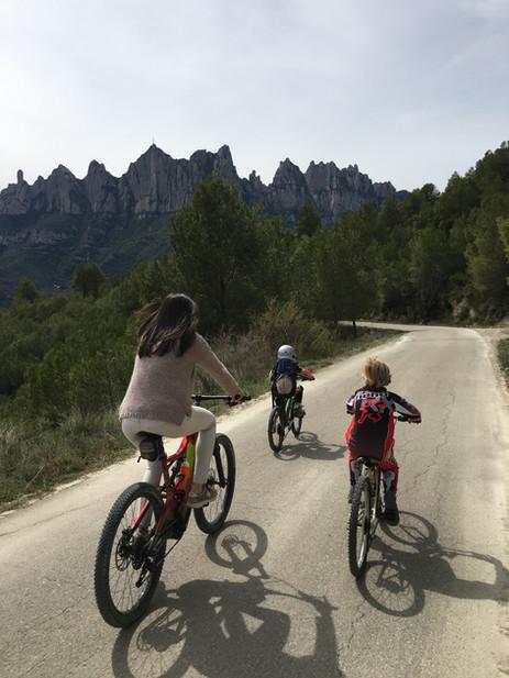 Ciclismo en famiia