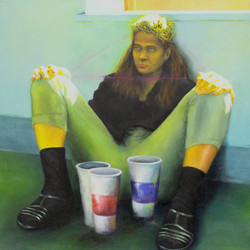 Self Portrait with 7/11 cups