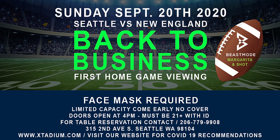 SEATTLE VS NEW ENGLAND 4PM REOPENING