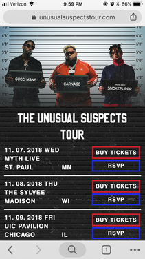 The Unusual Suspects Tour
