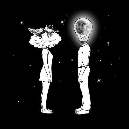 Day Dreamer Meets Night Thinker (Canvas Print)