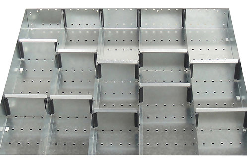 Cubio Adj Metal Divider Kit 15 Comp 675 x 625 x 77mm