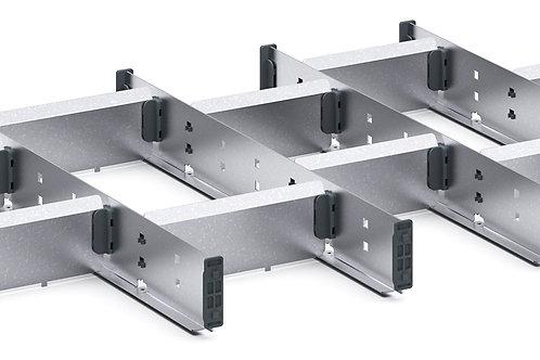 Cubio Adj Metal Divider Kit 15 Comp 675 x 400 x 52mm
