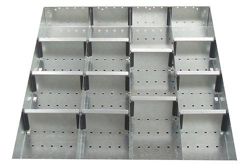Cubio Adj Metal Divider Kit 15 Comp 525 x 625 x 52mm