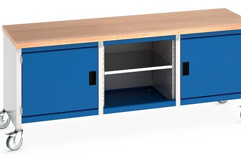 Cubio Mobile Storage Bench (Multiplex) 2000 x 750 x 840mm