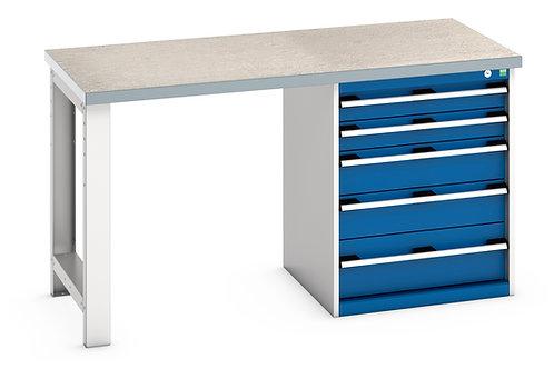Cubio Pedestal Bench (Lino) 1500 x 750 x 840mm