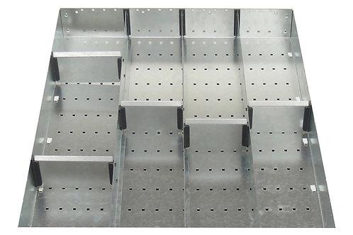 Cubio Adj Metal Divider Kit 9 Comp 525 x 400 x 77mm