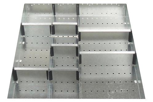 Cubio Adj Metal Divider Kit 10 Comp 525 x 625 x 52mm