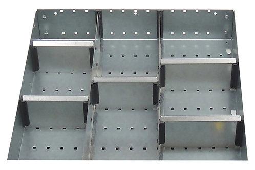 Cubio Adj Metal Divider Kit 8 Comp 525 x 400 x 77mm