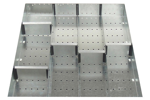 Cubio Adj Metal Divider Kit 9 Comp 525 x 400 x 127mm