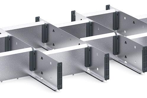 Cubio Adj Metal Divider Kit 15 Comp 675 x 400 x 77mm