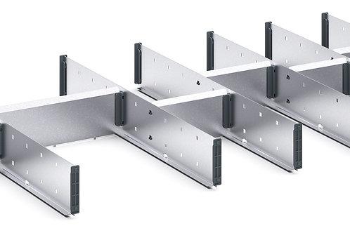 Cubio Adj Metal Divider Kit 14 Comp 1175 x 525 x 127mm