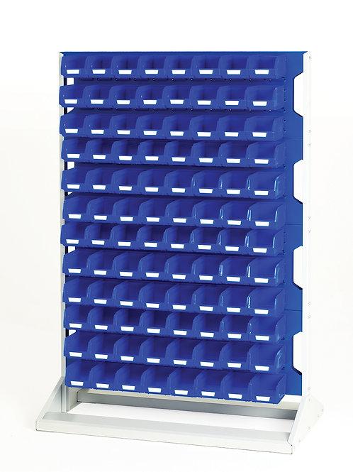 Louvre Panel Rack Double Sided & Bin Kit 1000 x 550 x 1450mm