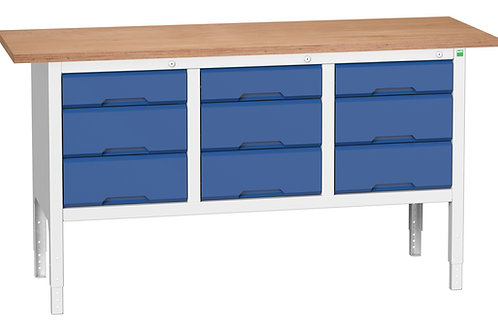 Verso Adj. Height Storage Bench (Mpx) 1750 x 600 x 930mm