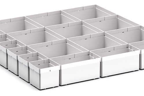 Cubio Plastic Box Divider Kit 18 Comp 525 x 525 x 68mm