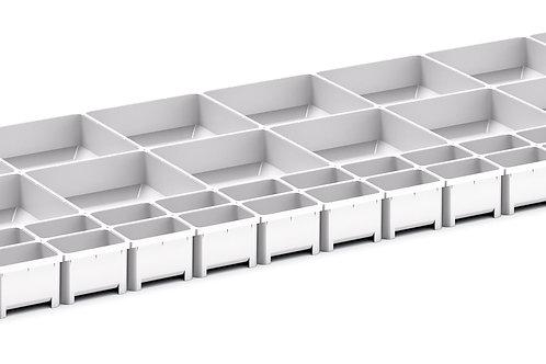 Cubio Plastic Box Divider Kit 52 Comp 1175 x 400 x 68mm