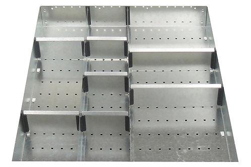 Cubio Adj Metal Divider Kit 10 Comp 525 x 625 x 77mm
