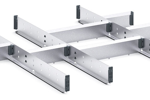 Cubio Adj Metal Divider Kit 11 Comp 675 x 625 x 52mm