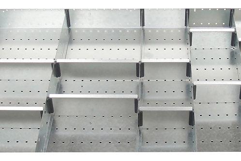 Cubio Adj Metal Divider Kit 16 Comp 925 x 625 x 77mm