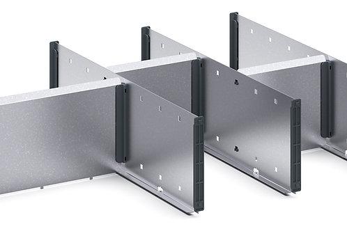 Cubio Adj Metal Divider Kit 7 Comp 675 x 400 x 127mm