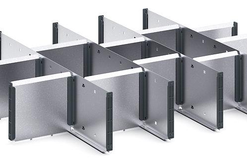 Cubio Adj Metal Divider Kit 15 Comp 675 x 525 x 127mm