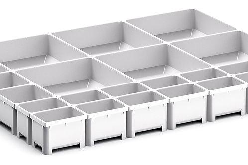 Cubio Plastic Box Divider Kit 24 Comp 525 x 400 x 50mm