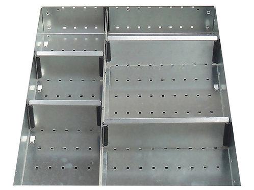 Cubio Adj Metal Divider Kit 6 Comp 400 x 525 x 127mm