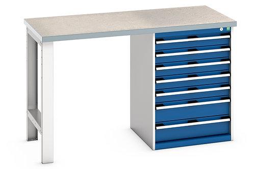 Cubio Pedestal Bench (Lino) 1500 x 750 x 940mm