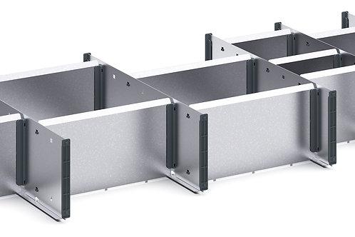Cubio Adj Metal Divider Kit 20 Comp 1175 x 400 x 127mm