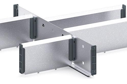 Cubio Adj Metal Divider Kit 6 Comp 400 x 400 x 77mm