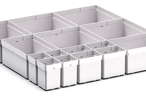 Cubio Plastic Box Divider Kit 15 Comp 400 x 400 x 68mm