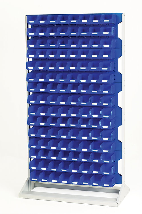 Louvre Panel Rack Double Sided & Bin Kit 1000 x 550 x 1775mm