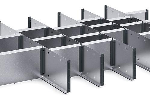Cubio Adj Metal Divider Kit 23 Comp 925 x 625 x 127mm