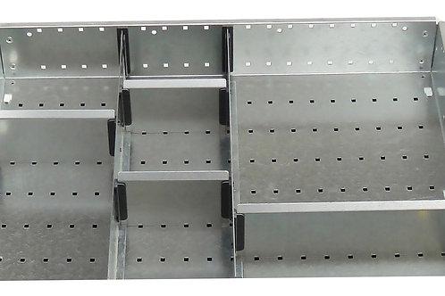 Cubio Adj Metal Divider Kit 7 Comp 525 x 400 x 127mm