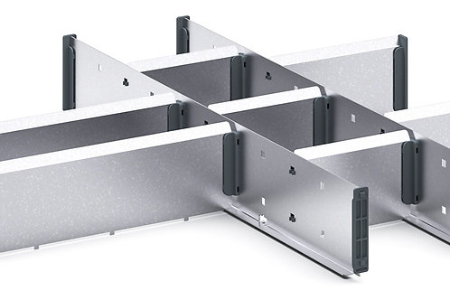 Cubio Adj Metal Divider Kit 10 Comp 525 x 525 x 77mm