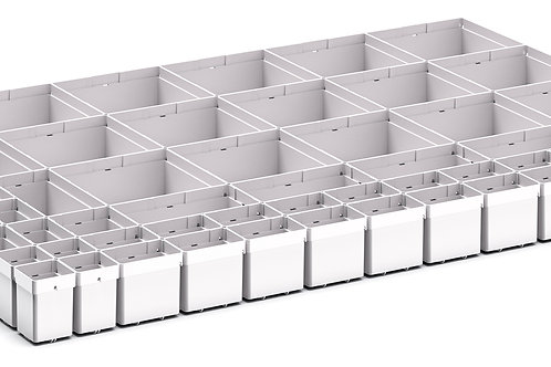 Cubio Plastic Box Divider Kit 64 Comp 925 x 675 x 68mm