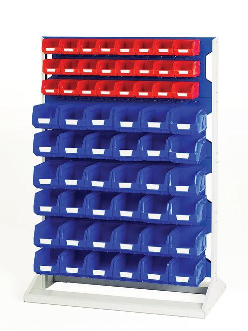 Louvre Panel Rack Single Sided & Bin Kit 1000 x 550 x 1450mm