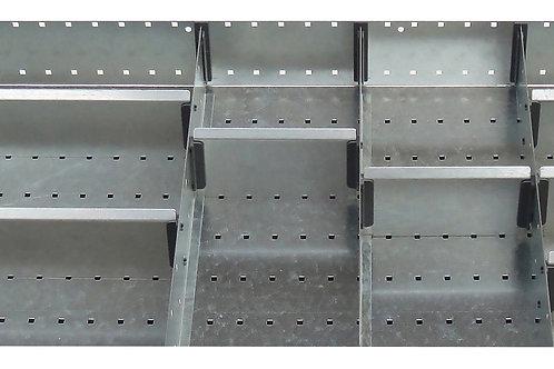 Cubio Adj Metal Divider Kit 11 Comp 675 x 525 x 77mm