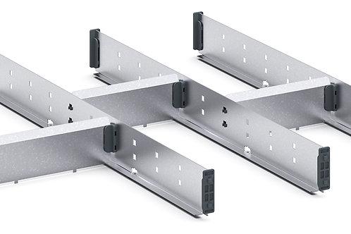 Cubio Adj Metal Divider Kit 7 Comp 675 x 525 x 52mm
