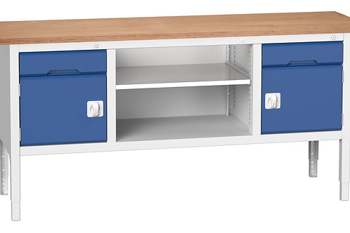 Verso Adj. Height Storage Bench (Mpx) 2000 x 600 x 930mm