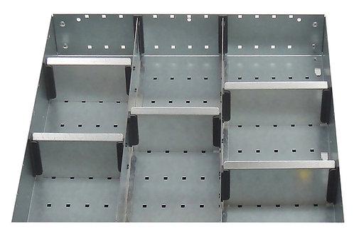 Cubio Adj Metal Divider Kit 8 Comp 400 x 400 x 52mm