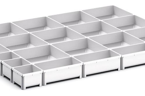 Cubio Plastic Box Divider Kit 21 Comp 675 x 525 x 50mm